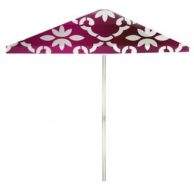8 Square Market Umbrella Color: White/Magenta