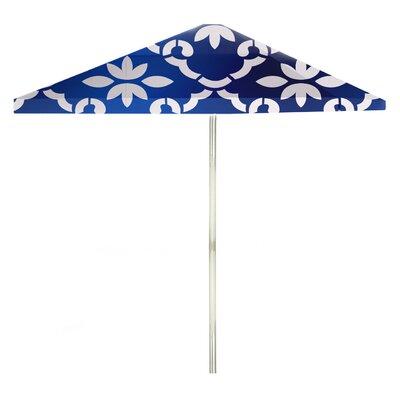 8 Square Market Umbrella Color: White/Celtic Blue