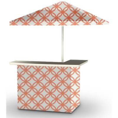 5 Piece Patio Bar Set Color: Orange/White