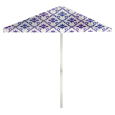 8 Square Market Umbrella Color: Purple/White