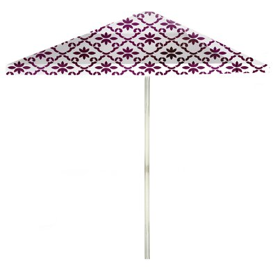 8 Square Market Umbrella Color: Magenta/White