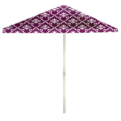 8 Square Market Umbrella Color: White/Magenta
