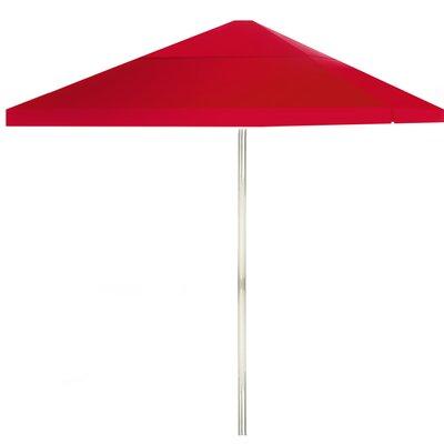 8 Square Market Umbrella Color: Red