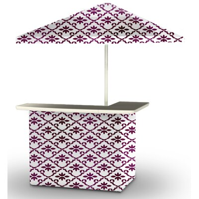 5 Piece Patio Bar Set Color: Magenta/White