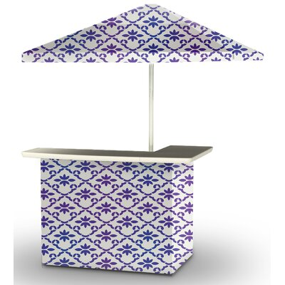 5 Piece Patio Bar Set Color: Purple/White