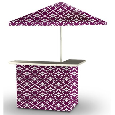 5 Piece Patio Bar Set Color: White/Magenta