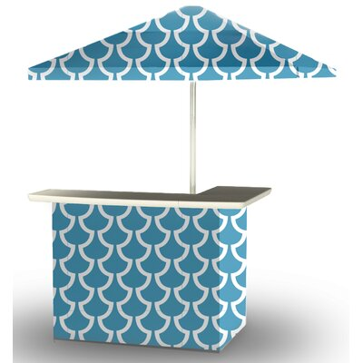 5 Piece Patio Bar Set Color: Ocean Blue