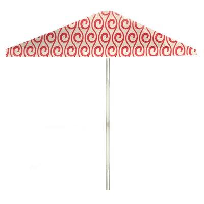 8 Square Market Umbrella Color: Peppermint/Cream