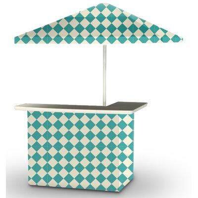 5 Piece Patio Bar Set Color: Mint/Cream