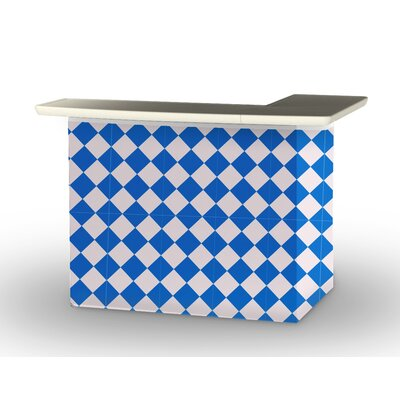 Patio Bar Color: Royal Blue/White