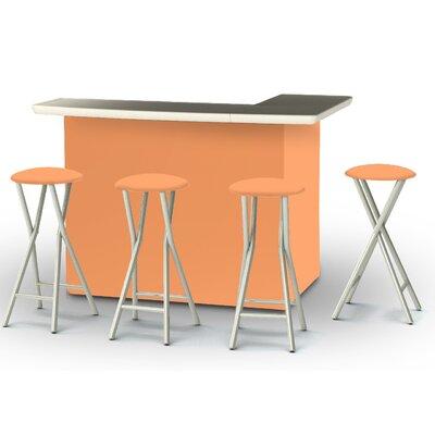8 Piece Patio Bar Set Color: Peach
