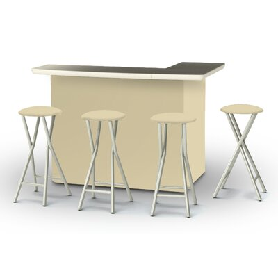 5 Piece Patio Bar Set Color: Khaki