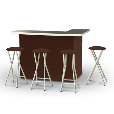 8 Piece Patio Bar Set Color: Dark Brown