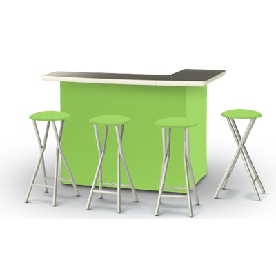 8 Piece Patio Bar Set Color: Lime Green
