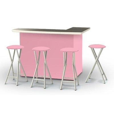 8 Piece Patio Bar Set Color: Pink