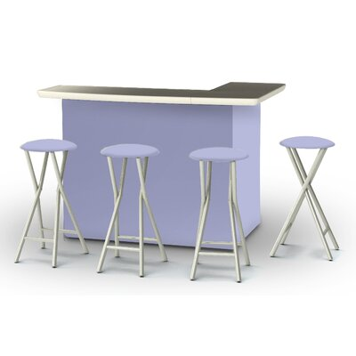 8 Piece Patio Bar Set Color: Lavender