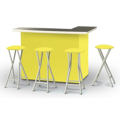 8 Piece Patio Bar Set Color: Yellow