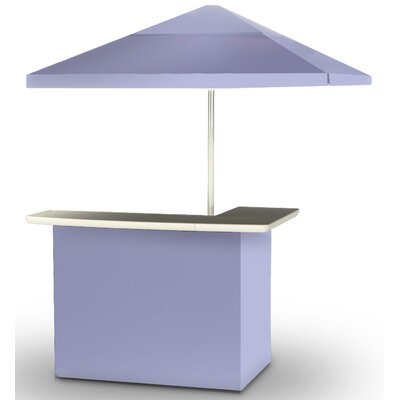 2 Piece Patio Bar Set Color: Lavender