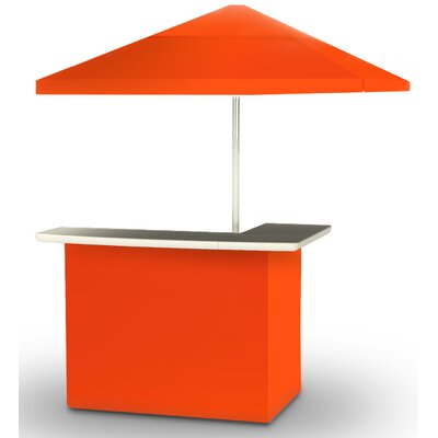 2 Piece Patio Bar Set Color: Orange