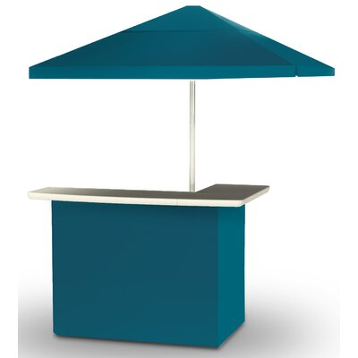 2 Piece Patio Bar Set Color: Sea Blue