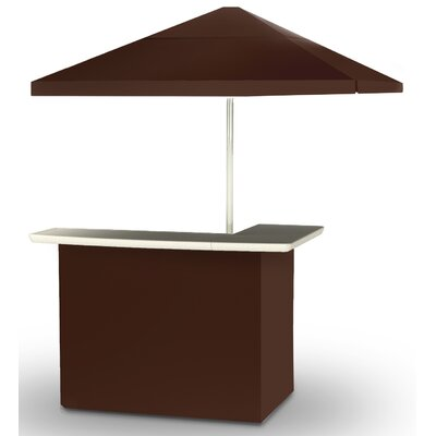 2 Piece Patio Bar Set Color: Dark Brown