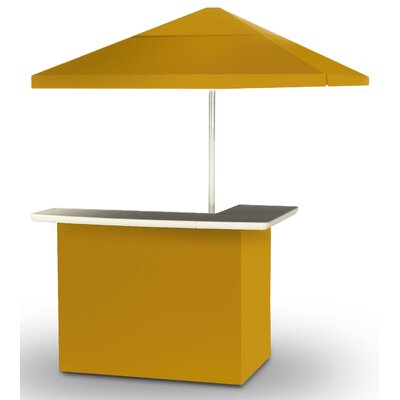2 Piece Patio Bar Set Color: Gold