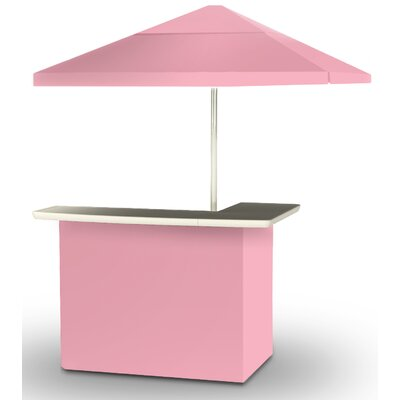 2 Piece Patio Bar Set Color: Pink