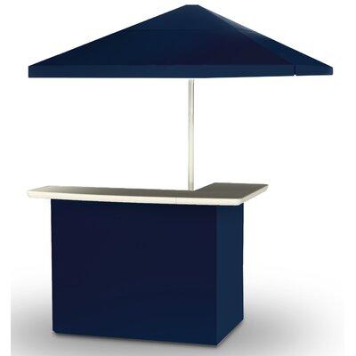 2 Piece Patio Bar Set Color: Navy Blue