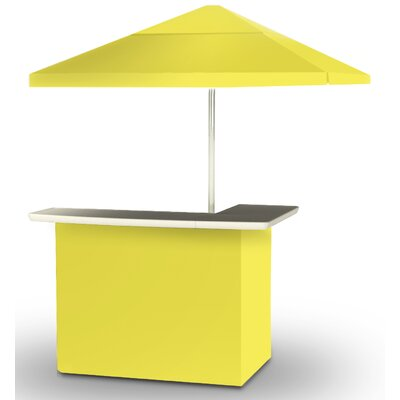 2 Piece Patio Bar Set Color: Yellow