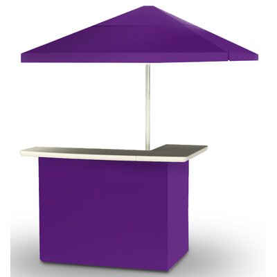 2 Piece Patio Bar Set Color: Purple