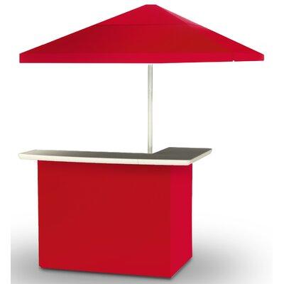 2 Piece Patio Bar Set Color: Red