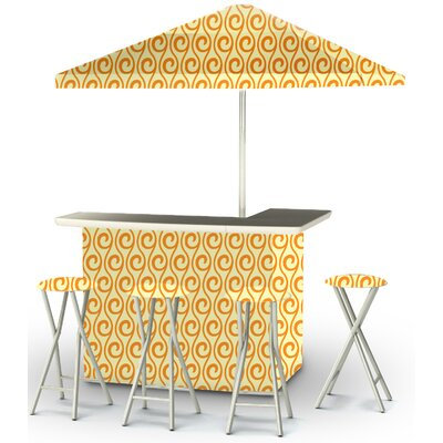 9 Piece Patio Bar Set Color: Toasted Sunshine