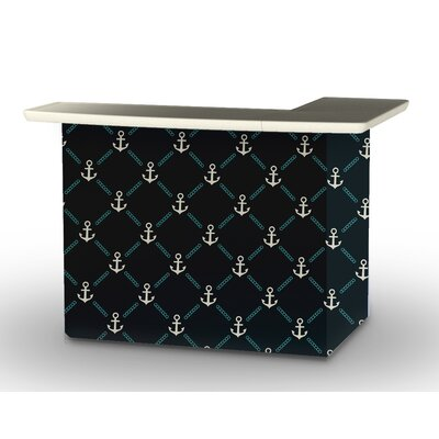 Patio Bar Set Color: Gray/Teal/Navy