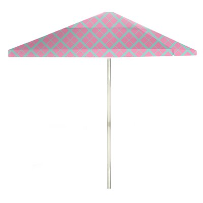 8 Square Market Umbrella Color: Teal/Pink
