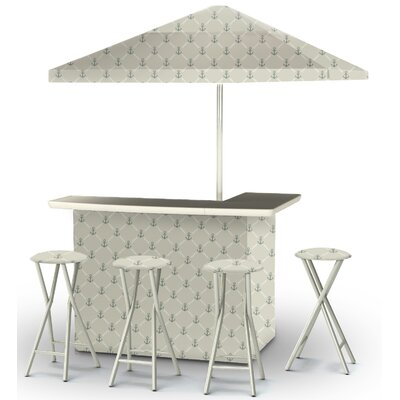 9 Piece Patio Bar Set Color: Gray/Gray