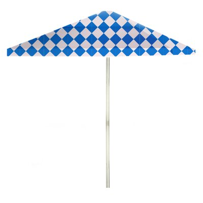 8 Square Market Umbrella Color: Royal Blue/White