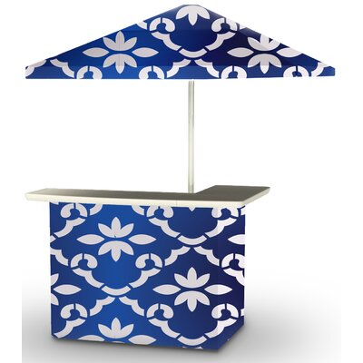 5 Piece Patio Bar Set Color: White/Celtic Blue
