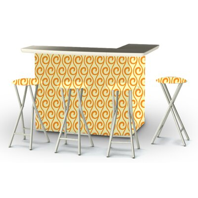 8 Piece Patio Bar Set Color: Toasted Sunshine