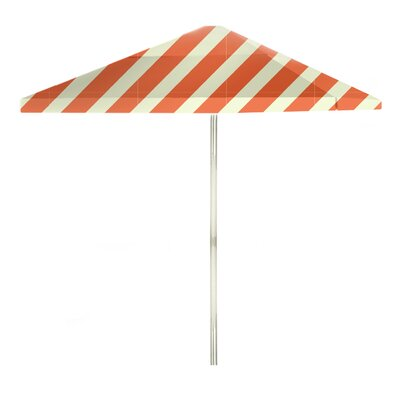 8 Square Market Umbrella Color: Orange/Sherbet