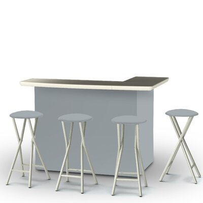 8 Piece Patio Bar Set Color: Gray