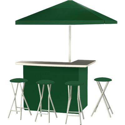 9 Piece Patio Bar Set Color: Green