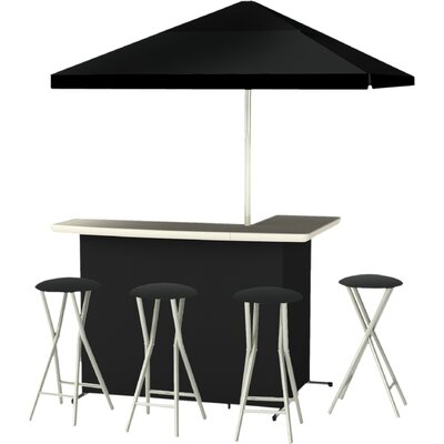 8 Piece Bar Set Finish: Black