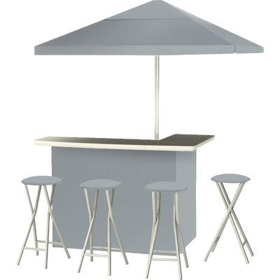 9 Piece Patio Bar Set Color: Gray