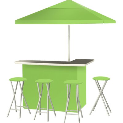 9 Piece Patio Bar Set Color: Lime Green
