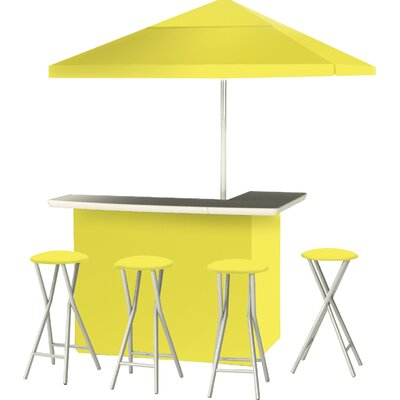 9 Piece Patio Bar Set Color: Yellow