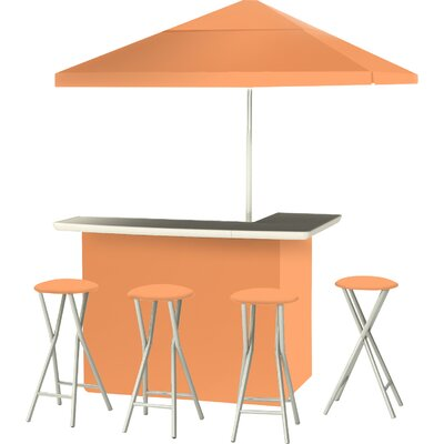 9 Piece Patio Bar Set Color: Peach