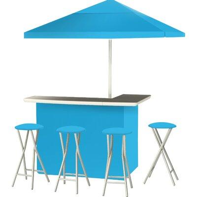 9 Piece Patio Bar Set Color: Sky Blue