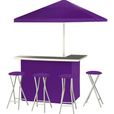 9 Piece Patio Bar Set Color: Purple