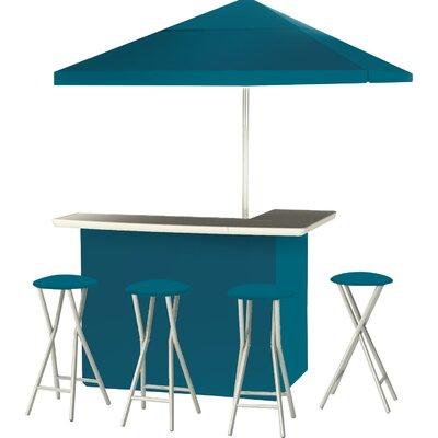 9 Piece Patio Bar Set Color: Sea Blue