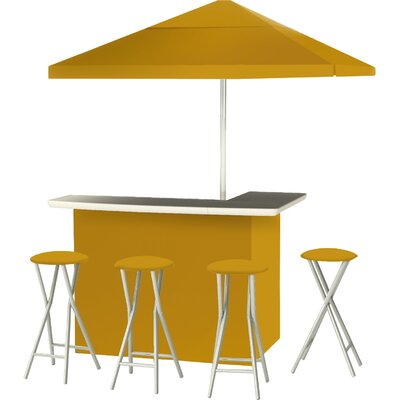 9 Piece Patio Bar Set Color: Gold